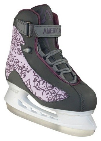 American Athletic Shoe Women's Soft Boot Hockey Skates