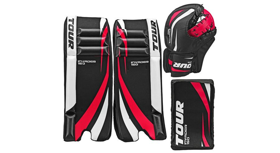 Tour Hockey Youth Invader 150 Hockey Goalie Pad Pack