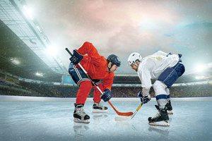 Hockey Face Off Shot